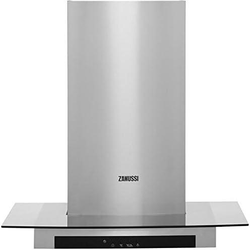 Zanussi ZHC66540 X A 60 cm chimenea campana – Acero inoxidable/cristal. Da claramente vista a tu cocina y crear una luz ambiental en la cocina: Amazon.es: Grandes electrodomésticos