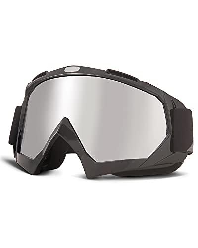 ISSYZONE Motocrossbrille Motorradbrillen Anti UV Crossbrille mit TPU Rahmen und Schaumstoffpolsterung, Motocrossbrille…