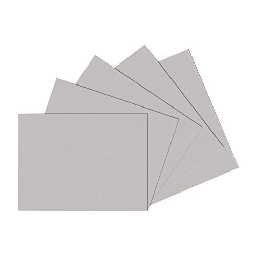 Sax Drawing Paper, 80 lb, 18 x 24 Inches, Pearl Gray, 500 Sheets by Sax