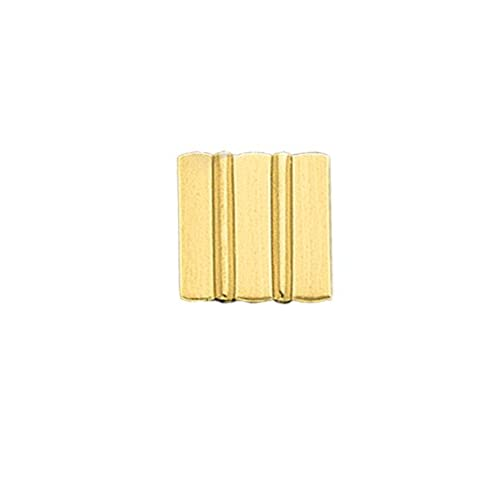 14K Gold Rectangle Tie Tac With Satin Finish Bars