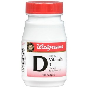 Walgreens Vitamin D3 5000 IU Dietary Supplement Softgels 100 Each