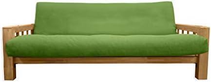 Sofá Cama Bifold, Futon Fundas Verdes, 200 x 140 x 30 cm: Amazon.es: Hogar