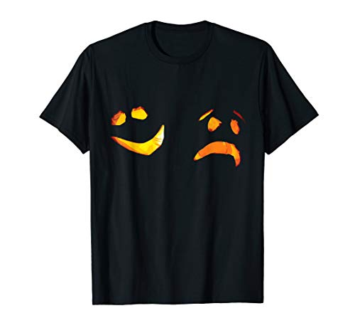 Comedy Tragedy Funny Pumpkin Halloween Face Design Art