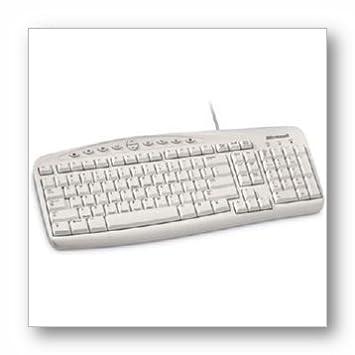 Amazon.com: Microsoft Wired Keyboard 500 - Keyboard - PS/2 - white ...