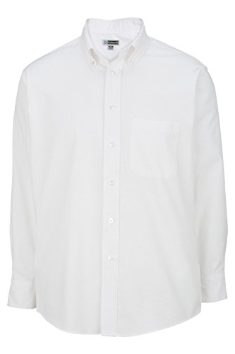 Men's Long Sleeve Oxford Shirt 1077 4XLT White by Edwards for Elliesox