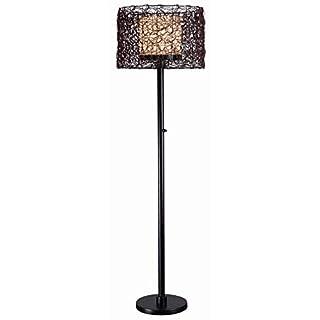 Kenroy Home Rustic Outdoor Floor Lamp ,59 Inch Height, 16 Inch Length, 16 Inch Diameter with Bronze