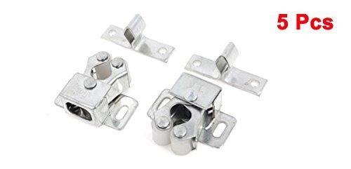 5 x 8 mm Diámetro del tono de plata de 2 ruedas Armario correderas de rodillos guía de la puerta - - Amazon.com