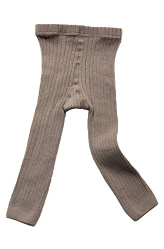 EachEver Toddler Baby Girls Basic Ribbed Leggings Footless Knitted Tights Dress Bottom Pants Grey 3-5T