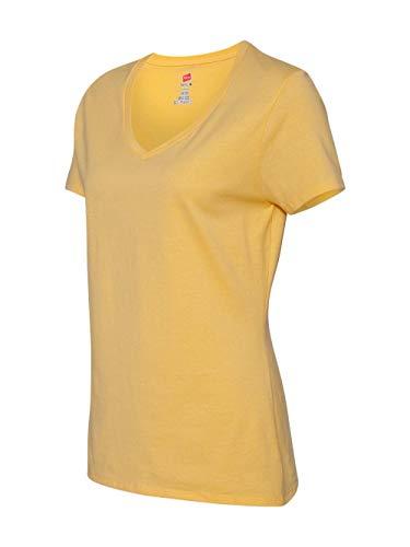 HN LAD 4.5 OZ RNGSPN CTN VEE  VINTAGE GOLD Large - Gone Yellow T-shirt