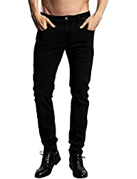 Slim Fit Jeans, Men's Younger-Looking Fashionable Colorful Comfy Stretch Skinny Fit Denim Jeans
