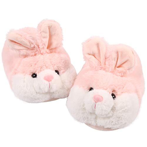 Caramella Bubble Classic Bunny Slippers | Womens Slipper | Fuzzy Clog for Lovers | Cozy Fun Plush Indoor Shoe | Soft Memory Foam Anti-Slip (5-7, Pink)