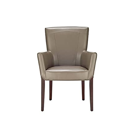 Safavieh Hudson Collection Greenwich Clay Bicast Leather Arm Chair