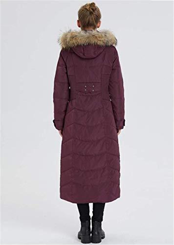 Para Sobre Mujer Abrigo Rodilla Invierno La De Purple Chaqueta Larga Famlyjk Abajo BwRYqXIA