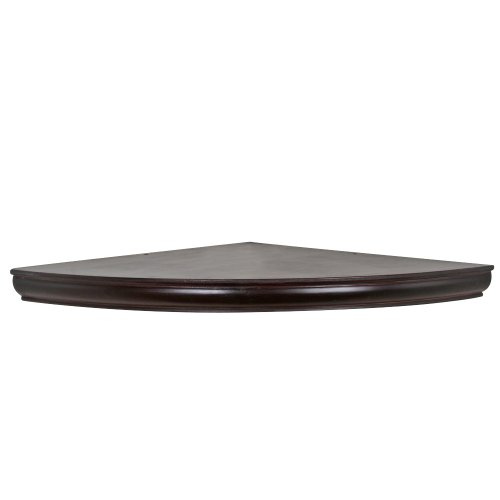 Woodland Home Decor AEC18E 18-Inch Espresso Floating Corner Shelf (Corner Wall Square Mounted)