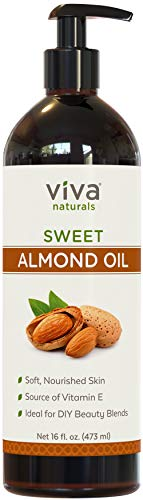 Large Product Image of Viva Naturals Sweet Almond Oil 16 fl oz, 100% Pure and Hexane Free, Ideal for Skin and Hair