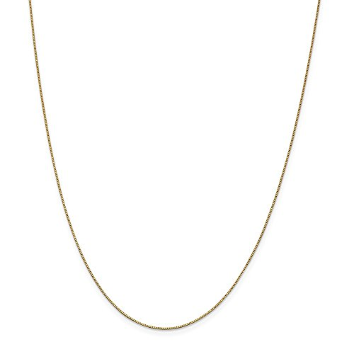 PriceRock 14k Gold .7mm Box Chain Necklace 30 Inches from PriceRock