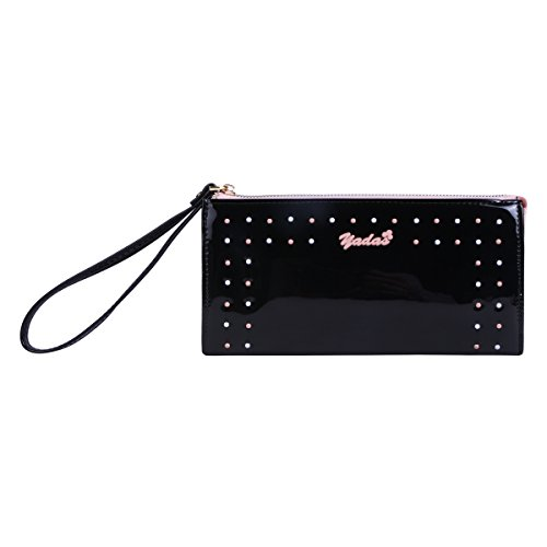 Damara Dotted Front Candy Color Wristlet Bag