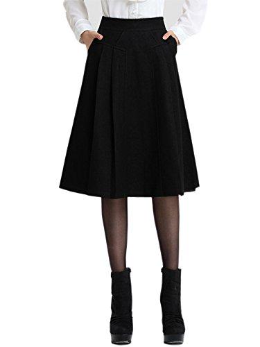 Panelled Pencil Skirt - Tsui-Fashion Women's Girl's A-Line Wool Skirt LBD Little Black Dress 13070
