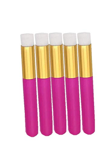 10 Pcs Hot Pink Lash Cleanser Brushes Soft Eyelash Cleaning Brushes Salin Used Aftercare Bags