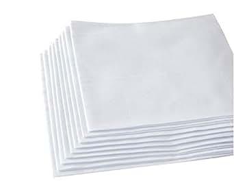 Men's White Handkerchiefs,100% Soft Cotton Hankie (6 pieces)