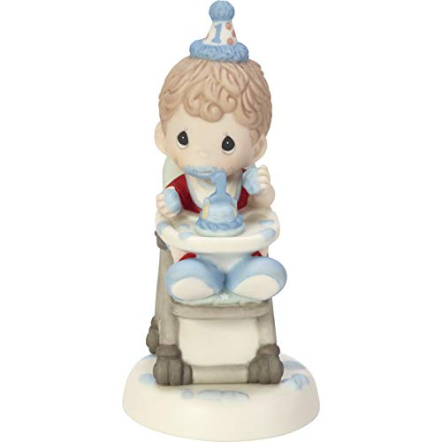 (Precious Moments Have A Smashing Birthday Baby Boy's First Birthday Bisque Porcelain Figurine 182002 )
