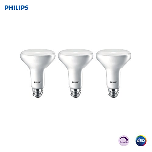 Philips LED Dimmable BR30 Light Bulb: 650-Lumen, 5000-Kelvin, 11-Watt (65-Watt Equivalent), E26 Base, Frosted, Daylight, 3-Pack