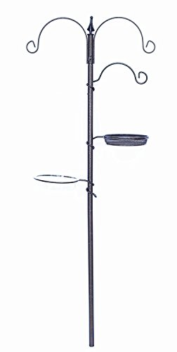 Bird Seed Feeder Holder Pole Station Stand Outdoor Garden Yard Patio Decor NEW
