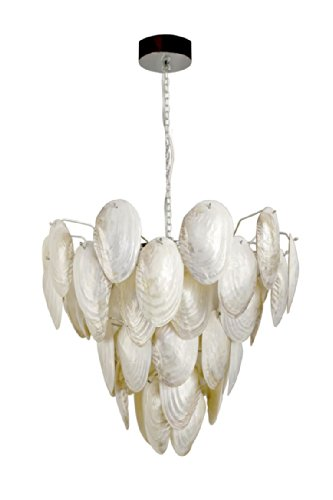 - KOUBOO 1050035 Mother of Pearl Shell Pendant Lamp, 27.5