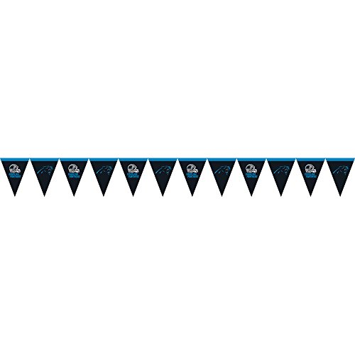 Creative Converting Officially Licensed NFL Plastic Flag Banner, 12', Carolina Panthers]()