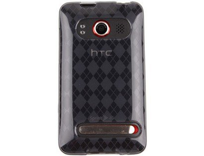 TPU Flexible Plastic Phone Protector Cover Case Transparent Smoke for HTC EVO 4G