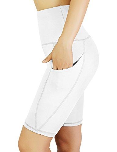 30c0a7b4b0dfe REETOYO Women's High Waist Tummy Control Workout Running 4 Way Stretch Yoga  Shorts Side Pockets