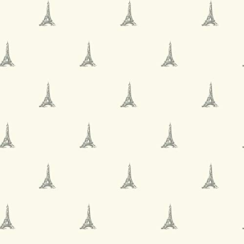 (Décor Direct YWWK6838 Tres Chic Tower Wallpaper, 20.5 in. x 33 ft. = 56 sq.ft, in Metallics)