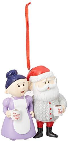 """Department 56 Rudolph Mrs. Always Right, 3.5"""" Hanging Ornament, Multicolor"""