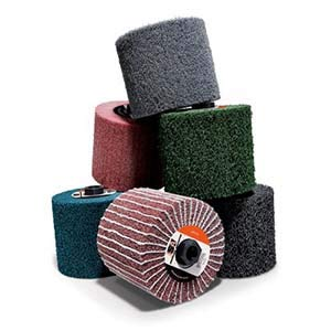 Standard Abrasives 875700, High Strength Mini-Brush, 4-1/2 x 4'' x 5/8-11 Ext Thread, A/O CRS