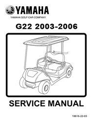 amazon com yamaha g22 golf cart service repair manual sports rh amazon com yamaha g14 golf cart repair manual yamaha golf cart repair manual download
