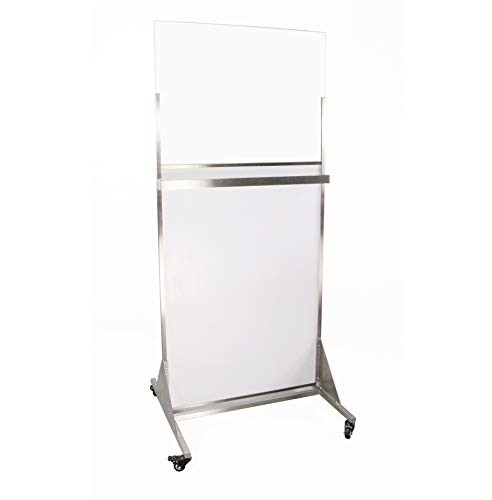 - FixtureDisplays Clear-Lead Lead Acrylic Mobile X-Ray Barriers 15678!