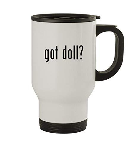 (got doll? - 14oz Sturdy Stainless Steel Travel Mug, White)