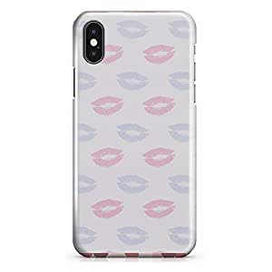 iPhone X Case Valentines Day Couples Love Heart Pattern Durable Sleek Look Wrap Around iPhone 10 Case 38