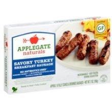 Applegate Farm Natural Savory Turkey Breakfast Sausage, 7 Ounce - 12 per case.