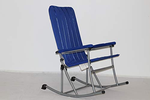 Premium Patio/Outdoor Folding Rocking Chair – Blue
