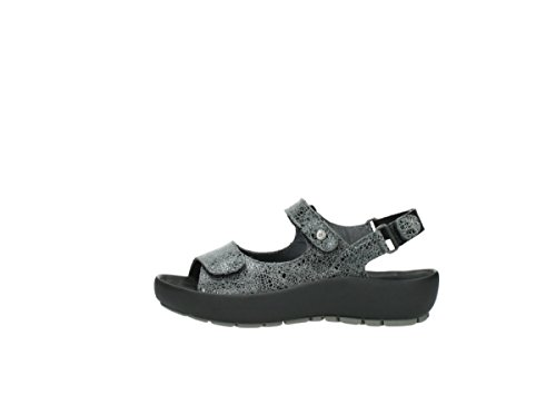 Wolky Sandals 420 Suede Grey Womens Crash Rio Leather rOxnwrzpq