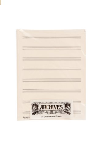 Archives Double-Folded Manuscript Paper Sheets, 8 stave, 24 Sheets - Sibelius General Music Pack