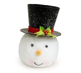 Snowman Head Shaped Tree Topper or Planter