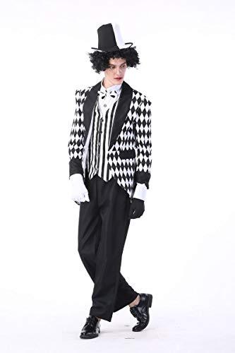 Simmia Halloween Costumes Halloween Costume _ Cosplay King Costume Circus Clown Magician Costume, 89346, L -