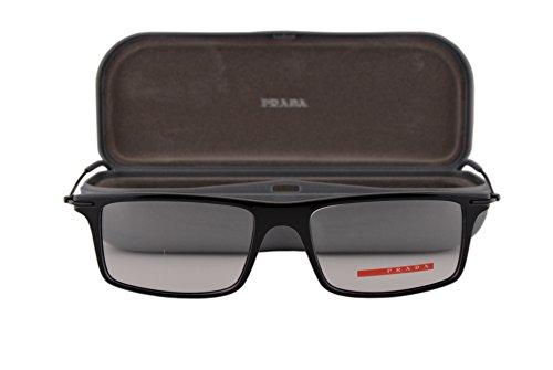 Prada PS03EV Eyeglasses 51-16-145 Shiny Black 1AB1O1 - Case Eyeglasses Prada