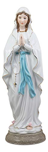 - Ebros Gift Our Lady of Lourdes Roman Catholic Blessed Virgin Mary Fine Porcelain Statue 16