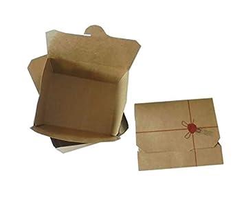 Unidades 60 caja porta alimentos plegable tamaño grande cm 21,5 x cm 16 Alto Cm 4,8 plegable marrón Brown para congelados de cartón Alimentos generico Box ...
