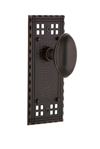 Nostalgic Warehouse Craftsman Plate Single Dummy Homestead Door Knob in Timeless Bronze - Homestead Door