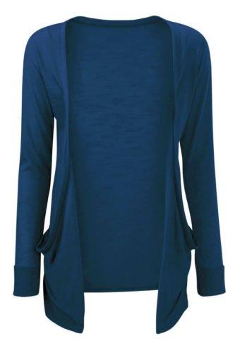 Cardigan Femme Fille Style Petit Ami Disponible en Toutes les Couleurs, Bleu sarcelle, Medium / Large