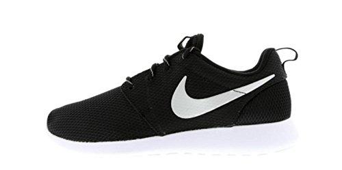 Nike Women's Roshe One Running Shoe Black/Metallic Platinum/White (11.5)